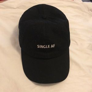"Other - Black ""single af"" hat"